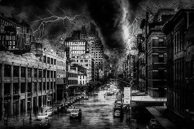 Stormy Weather Mixed Media - Night Terror by Ractapopulous