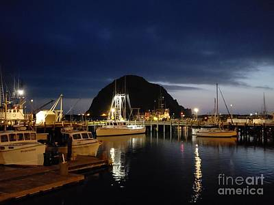 Photograph - Night Time Morro Bay by Douglas Miller