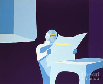 Painting - Night Watchman by John Bowers