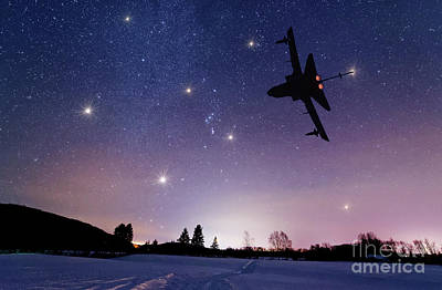 Jet Star Photograph - Nightflight by Colin Woods