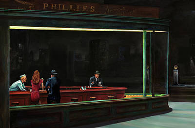Painting - Nighthawks by Antonio Ortiz