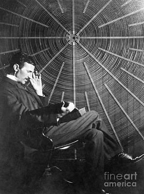 Photograph - Nikola Tesla by Granger