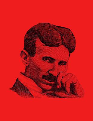 Nikola Tesla Art Print by War Is Hell Store