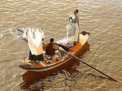Pyramids Photograph - Nile River Merchants by Joseph Hendrix
