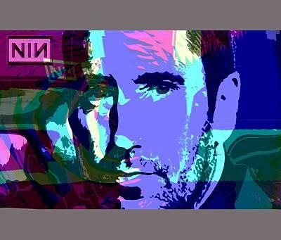 Trent Reznor Digital Art - nin by Blind Ape Art