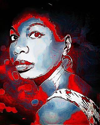 Nina Simone Art Print by Lynda Payton