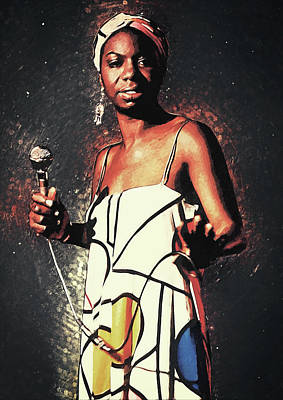 Digital Art - Nina Simone by Zapista