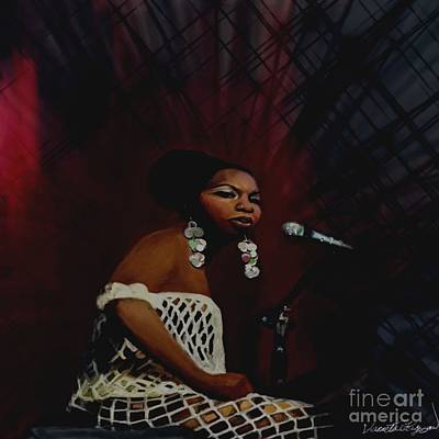 Mixed Media - Nina Simone by Vannetta Ferguson