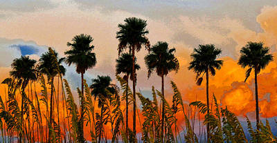 Painting - Nine Palms by David Lee Thompson