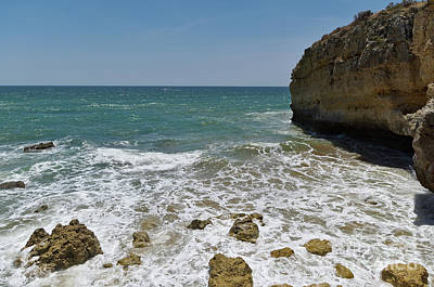 Photograph - Ninho Da Andorinha Beach In Albufeira by Angelo DeVal