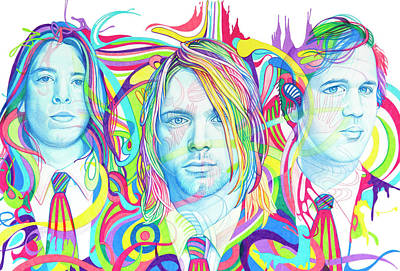 Drawing - Nirvana by Joshua Morton