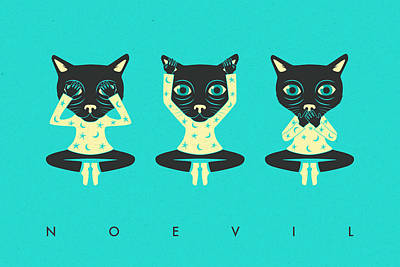 See No Evil Digital Art - No Evil by Jazzberry Blue