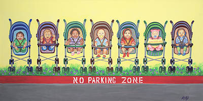 Painting - No Parking Zone by Kenji Lauren Tanner