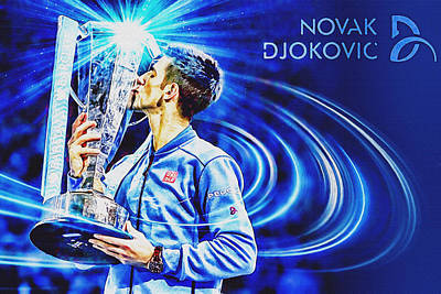 Djokovic Painting - No1e  -  Novak Djokovic by Nenad Cerovic