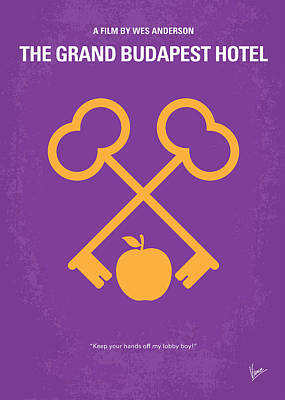 Digital Art - No347 My The Grand Budapest Hotel Minimal Movie Poster by Chungkong Art