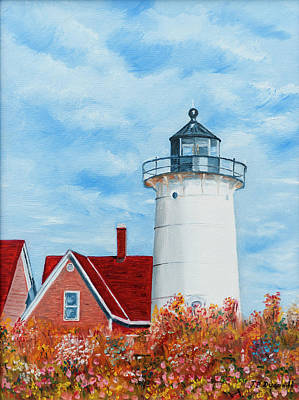 Painting - Nobska Point Lighthouse by Jean-Pierre Ducondi