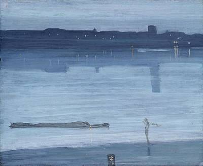 Whistler Painting - Nocturne Blue And Silver by James Abbott