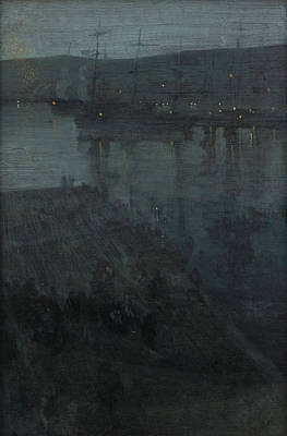 Whistler Painting - Nocturne In Blue And Gold - Valparaiso by James Abbott McNeill Whistler