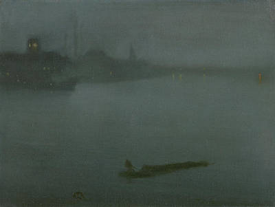Whistler Painting - Nocturne In Blue And Silver by James Abbott McNeill Whistler