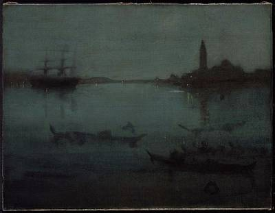 Whistler Painting - Nocturne In Blue And Silver by James Abbott
