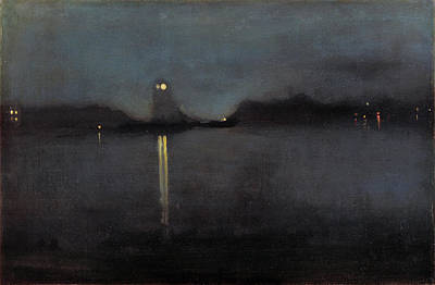 Tonalist Painting - Nocturne by James Abbott McNeill Whistler