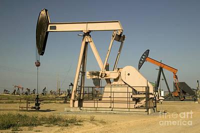 Nodding Donkey Oil Pumps Art Print by Inga Spence