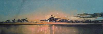 Annette Kinship Wall Art - Painting - Nokomis Sunset Captured by Annette Kinship