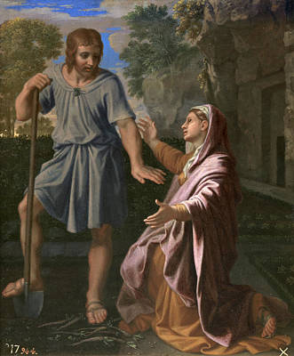 Painting - Noli Me Tangere by Nicolas Poussin