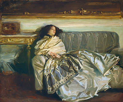 Sadness Painting - Nonchaloir - Repose by John Singer Sargent