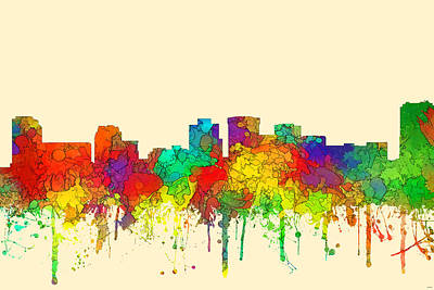 Norfolk Virginia Skyline Art Print