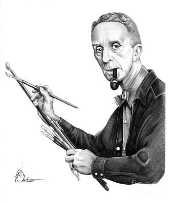 Drawing - Norman Rockwell by Murphy Elliott