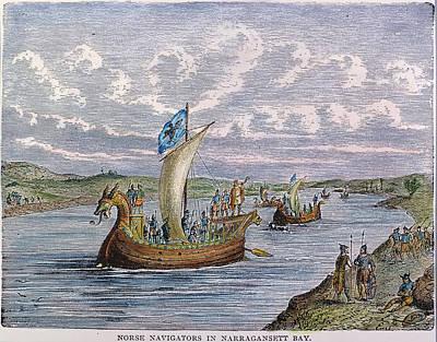 Norsemen Photograph - Norse Ships, 1000 A.d by Granger