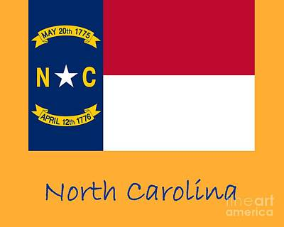 Winter Animals Rights Managed Images - North Carolina Flag Royalty-Free Image by Frederick Holiday