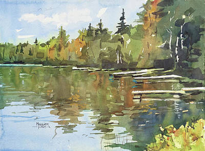 Trout Painting - North Country Reflections by Spencer Meagher