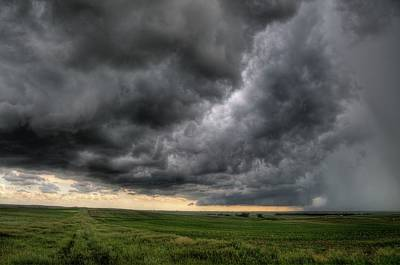 Photograph - North Dakota Thunderstorm by Dave Rennie
