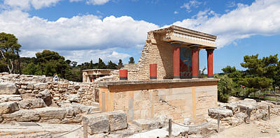 Minoan Photograph - North Entrance Of Minoan Palace by Panoramic Images