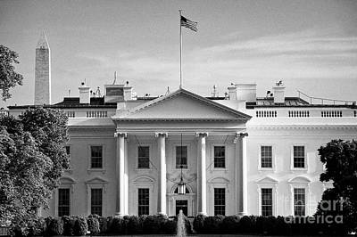 Whitehouse Wall Art - Photograph - north facade from pennsylvania avenue the white house with washington monument in the background Was by Joe Fox
