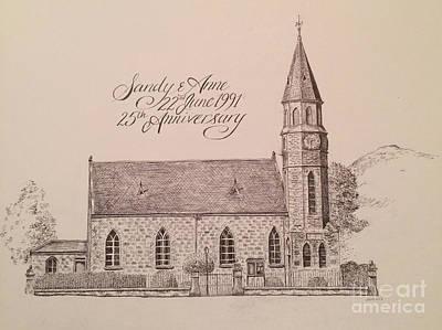Painting - North Parish Church by Sheep McTavish