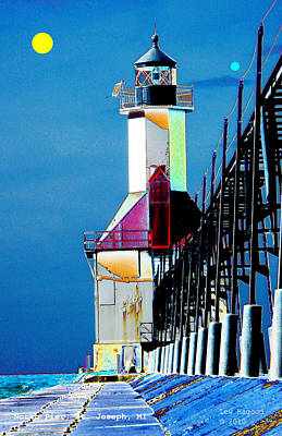 North Pier St Joseph Michigan Art Print