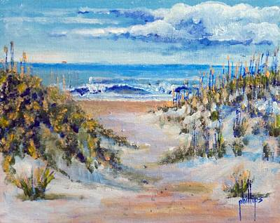 Painting - North Topsail Beach by Jim Phillips