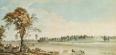 Clearing Painting - North West View Of Wakefield Lodge In Whittlebury Forest, Northamptonshire by Paul Sandby
