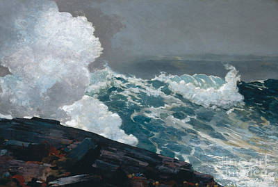 Fresh Water Painting - Northeaster, 1895 by Winslow Homer
