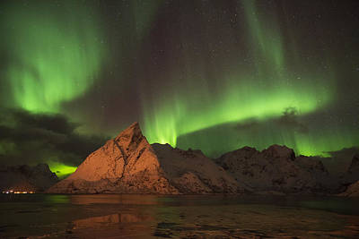 Photograph - Northern Light In Lofoten, Nordland 2 by Dubi Roman