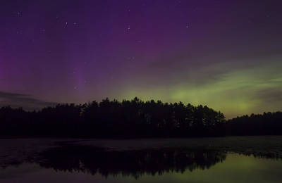 Photograph - Northern Lights At Lake Rohunta by John Burk