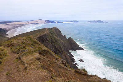 Northland Sand Beach Near Cape Reinga New Zealand Art Print by Stephan Pietzko