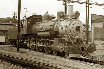 Up Up And Away - Northwestern Pacific locomotive 4-6-0 No. 112 in the Tiburon Yar by California Views Archives Mr Pat Hathaway Archives