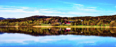 Photograph - Norwegian Autumn Panorama by Luca Bartoloni