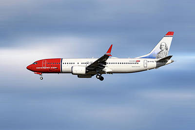 Mixed Media - Norwegian Boeing 737 Max 8 by Smart Aviation