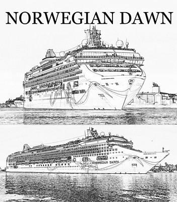 Digital Art - Norwegian Dawn by David Lee Thompson