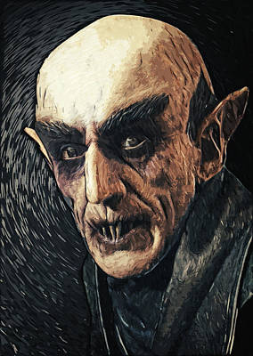 Count Dracula Digital Art - Nosferatu by Taylan Apukovska
